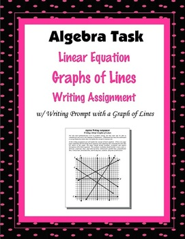 Algebra Writing Assignment Task: Graphs of Lines