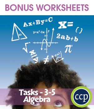 Algebra - Task Sheets Gr. 3-5 - BONUS WORKSHEETS