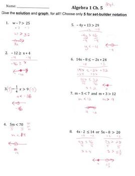 Algebra Test Inequalities