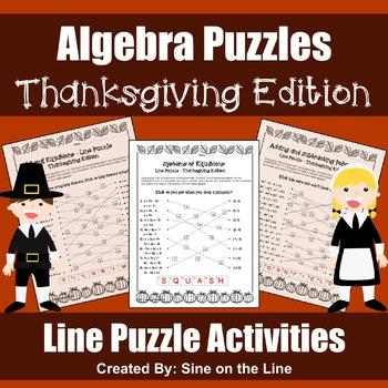 Algebra Thanksgiving Puzzles