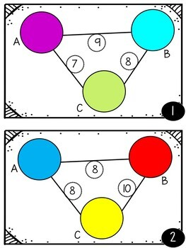 Algebraic Thinking:  Balancing Bubbles Problem Solving Task Cards