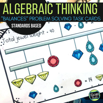 Balancing Equation Problem Solving Task Cards | Distance Learning