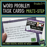 Multi Step Word Problem Task Cards: Grade 3-4