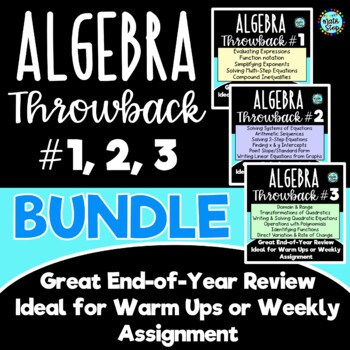 Algebra Throwback #1, 2, 3 BUNDLE