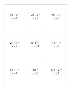 Algebra Tic-Tac-Toe