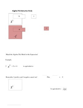 Algebra Tile Card Sort