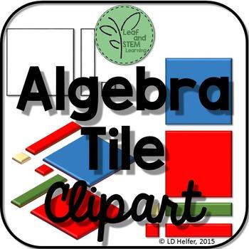 Algebra Tile Clipart {Freebie}