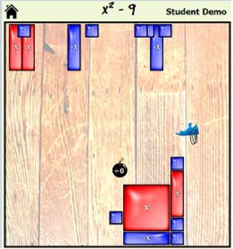 Algebra Tile Factris - Solo Account