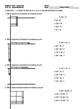 Algebra Tiles - Factoring Polynomials