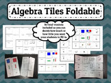 Algebra Tiles Foldable for Interactive Notebook