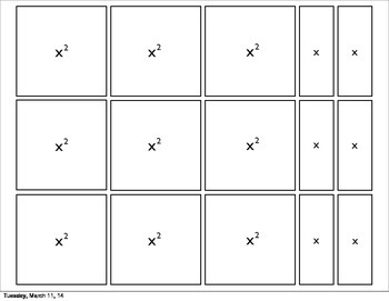 Algebra Tiles Freebie