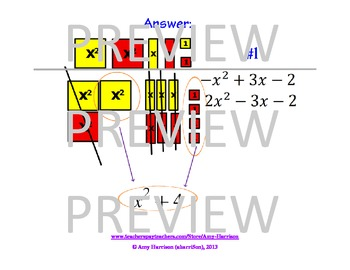 Algebra Tiles Mats, Problems, and Answers for Active Inspire from Promethean
