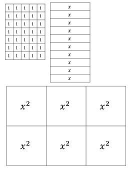 Algebra Tiles {Printer-Friendly}