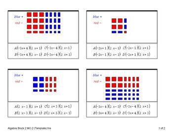 Algebra Tiles (Quiz)