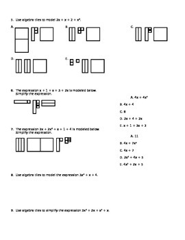Algebra Tiles - Simplifying Expressions