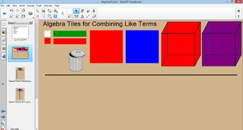 Algebra Tiles Smart Notebook Interactive
