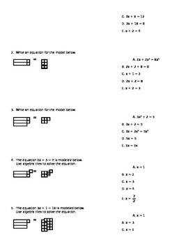 Algebra Tiles - Solving Equations