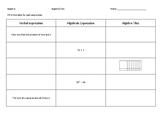 Algebra Tiles Worksheet