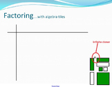 Algebra Tiles for Factoring Quadratics in Smart Notebook