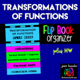 Transformations of Functions Foldable Flip Book plus HW