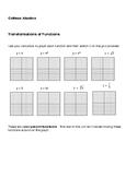 Algebra:  Transformations of Functions Lab