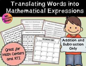 Mathematical Expressions: Translating Words in Algebra