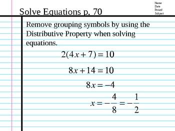 Algebra-Trimester 3
