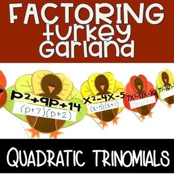 Algebra Turkey Garland - Factoring