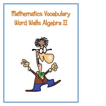 Algebra Two Math Word Walls