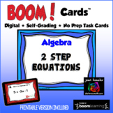 Algebra Two Step Equations with BOOM Cards