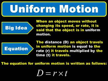 Algebra - Uniform Motion