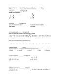 Algebra Unit 1 Test: Pre Req Skills NS/Exp/Equa