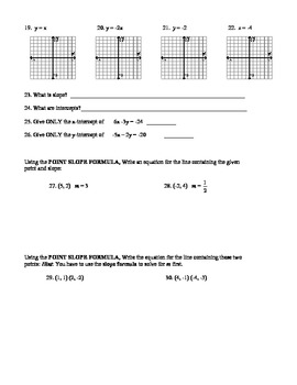 unit 5 practice test Answers to practice questions for mte 5 – linear equations, inequalities, and systems of equations in two variables  y=-2x +1 5 3 1 -1 -3 (0, 2).