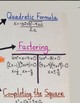 Algebra Factor and Solve Quadratic Equations Anchor Chart Poster