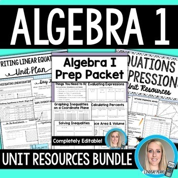 Algebra 1 Unit Plans Bundle