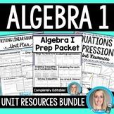 Algebra 1 Units and Activities Bundle