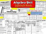 Algebra Unit from Lightbulb Minds