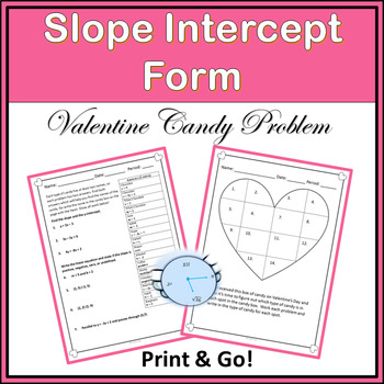 Slope-Intercept Worksheet {Valentine Problem}