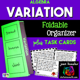 Direct Inverse and Joint Variation Foldable and Task Cards