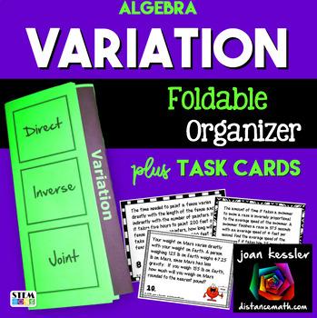 Algebra Variation Foldable and Task Cards