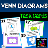 Venn Diagrams  (Set Theory) Task Cards for Algebra