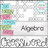 Algebra Vocabulary Crossword