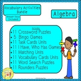 Algebra Vocabulary Activities