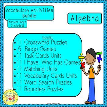 Algebra Vocabulary Activities