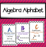 Algebra Vocabulary Alphabet Posters