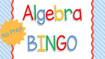 Algebra Vocabulary BINGO Game