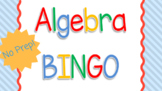 Algebra Vocabulary BINGO Game