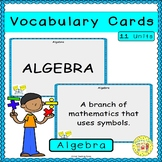 Algebra Vocabulary Cards