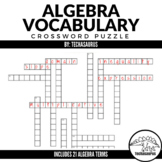 Algebra Vocabulary Crossword Puzzle