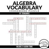 Algebra Vocabulary Crossword Puzzle